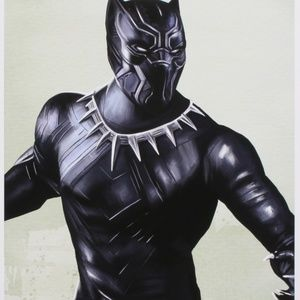 """Other - Tony Santiago Signed """"Black Panther"""" Lithograph"""